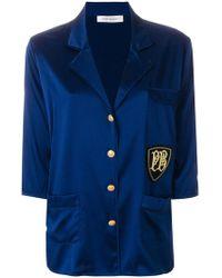 Balmain Satin Pyjama Shirt - Blue