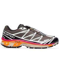 Salomon S/LAB - Grey, Pink And Orange Xt-6 Adv Sneakers - Lyst