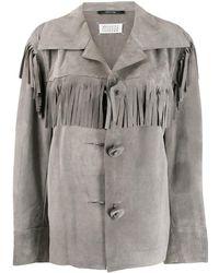 Maison Margiela フリンジ シングルジャケット - グレー
