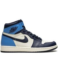 Nike Air 1 Retro High Og Obsidian/university Blue