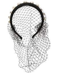RED Valentino - Red(v) Mesh Studded Hairband - Lyst