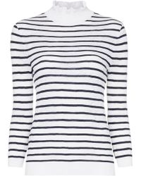 Chloé - Turtleneck Striped Cotton Blend Jumper - Lyst