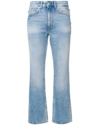 Mauro Grifoni Cropped Flared Jeans - Blue