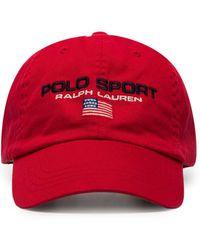 Polo Ralph Lauren Honkbalpet Met Geborduurd Logo - Rood