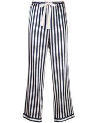 Morgan Lane Pantaloni pigiama a righe Chantal - Blu