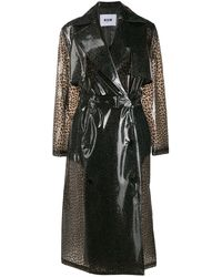 MSGM - Trench con stampa - Lyst