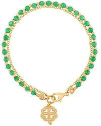 Astley Clarke Four Leaf Clover Biography Bracelet - Green