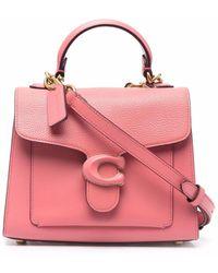 COACH レザー ハンドバッグ - ピンク