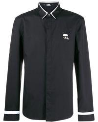 Karl Lagerfeld Ikonik Logo Shirt - ブラック