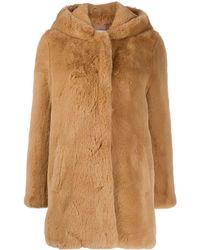 Sandro Honey Faux Fur Coat - Multicolour