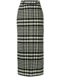 Dalood - Houndstooth Pencil Skirt - Lyst