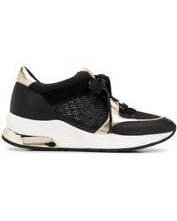 Liu Jo Sneakers Met Mesh Vlakken - Zwart
