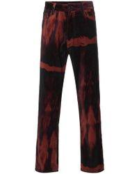 Ann Demeulemeester - Six Pocket Cotton Velvet Trousers - Lyst