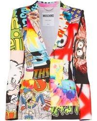 Moschino Blazer con diseño patchwork - Blanco
