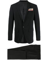 DSquared² Anzug mit Flammentasche - Schwarz