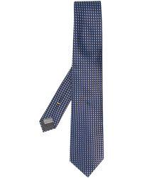 Canali Geometric Pattern Tie - Blue