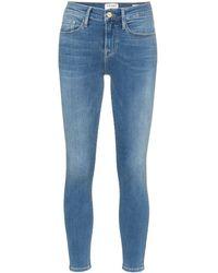 FRAME Jean crop Le Skinny De Jeanne - Bleu