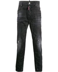 DSquared² - ダメージ ストレートジーンズ - Lyst