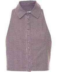 Framed Button blouse - Violet