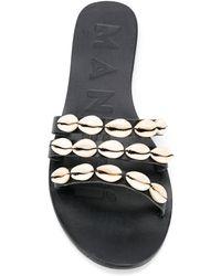 Manebí フラットサンダル - ブラック
