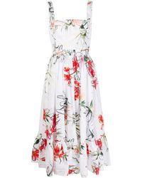 Alexander McQueen - Платье Миди Endangered Flower - Lyst