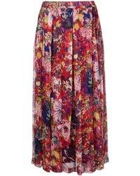 Aspesi Floral Printed Skirt - Красный
