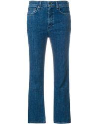Rag & Bone Jean crop à coupe évasée - Bleu