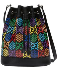 Gucci GG Psychedelic Bucket-tas - Zwart