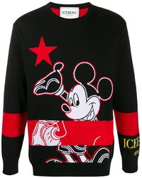 Iceberg Mickey Mouse プルオーバー - ブラック