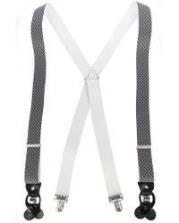 Fefe - Diamond Patterned Elasticated Braces - Lyst