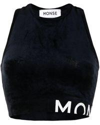 Monse レーサーバック クロップドトップ - ブルー