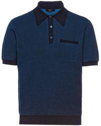 Prada ニット ポロシャツ - ブルー
