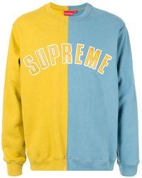 Supreme Split Sweatshirt - Yellow