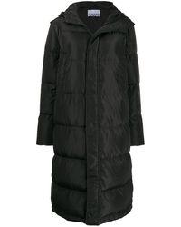 Ganni オーバーサイズ パデッドコート - グレー