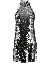 Galvan London Gemma スパンコール ミニドレス - メタリック