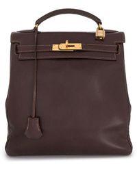 Hermès Pre-owned Kelly Ado Backpack - Brown