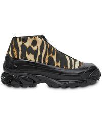 Burberry Zapatillas Arthur con estampado de leopardo - Marrón