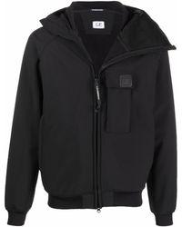 C.P. Company Куртка С Капюшоном И Нашивкой-логотипом - Черный