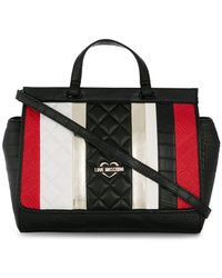 Love Moschino - Striped Shoulder Bag - Lyst