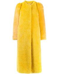 RED Valentino Однобортное Пальто - Желтый