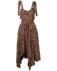 Proenza Schouler - Printed Asymmetric Dress - Lyst