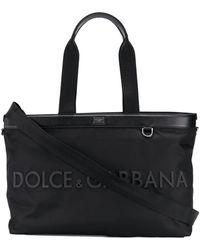 Dolce & Gabbana Draagtas Met Logoplakkaat - Zwart