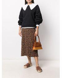 Ganni ロゴ スウェットシャツ - ブラック