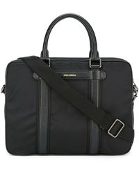 Dolce & Gabbana 'mediterraneo' Laptop Bag - Black