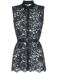 Loveless - Lace-embroidered Fitted Blouse - Lyst