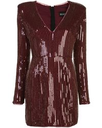 Haney Carlotta Sequinned Mini Dress - Red