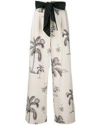 ODEEH - Palm Tree Print Trousers - Lyst