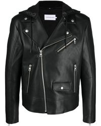 Calvin Klein Байкерская Куртка Из Искусственной Кожи - Черный