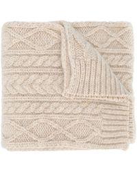 Maison Margiela Chunky Knit Scarf - Natural