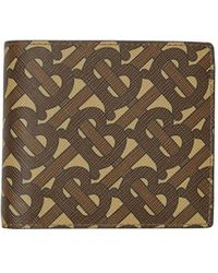 Burberry Monogram Print Bifold Wallet - Brown